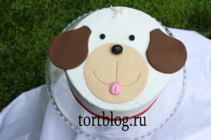 Детский торт собака пошаговые фото