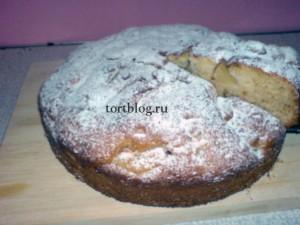 Яблочный пирог на кефире рецепт