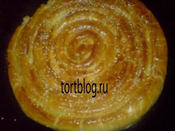 Картофельный пирог из слоёного теста
