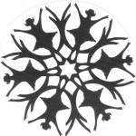 Трафареты снежинки