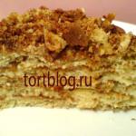 Торт медовик с сметанным кремом