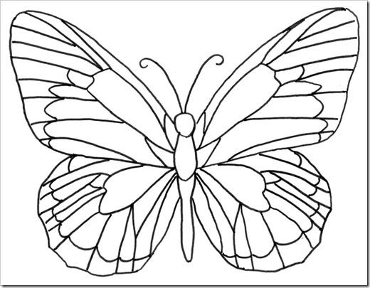 Трафарет бабочки для айсинга
