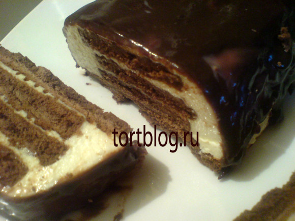 Творожно сметанный торт без выпечки