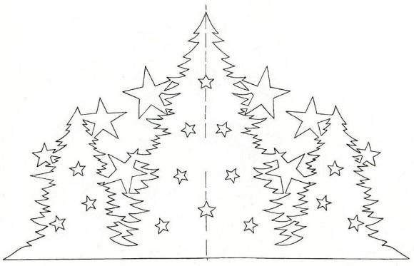 трафарет елки