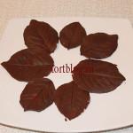 Как сделать шоколадные листья